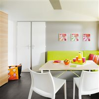 Mobile-home chambres Camping Peyrelade :chambre parents